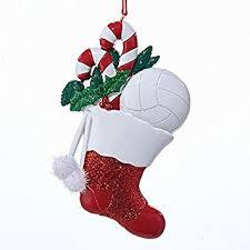 amazon com kurt adler christmas volleyball stocking ornament