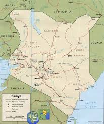 geographical map of kenya nairobi map africa africa map