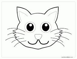 kitten outline coloring page coloring home