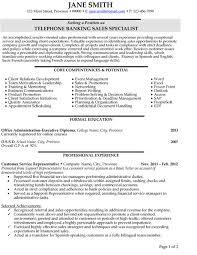 Sle Resumes For Banking | banking sales resume etame mibawa co