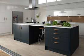 grey matte kitchen with copper handles google search kitchen