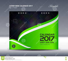 green desk calendar for 2017 year cover desk calendar template