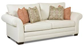 contemporary enso memory foam queen sleeper sofa by klaussner