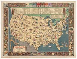 Map If The United States by Vintage Folklore Music Map Of The United States 1946 Hjbmaps Com