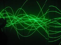simple music visualizer laser oscilloscope laser pointers
