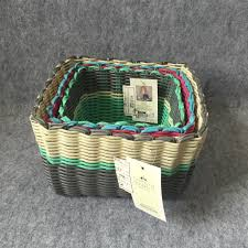 2017 new design pp strap woven storage basket storage baskets bins