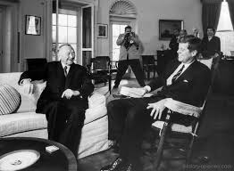 Kennedy Oval Office by Jfk Hosts West German Chancellor Konrad Adenauer At The White