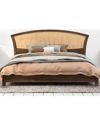 spectacular deal on walnut platform bed queen size low modern bed