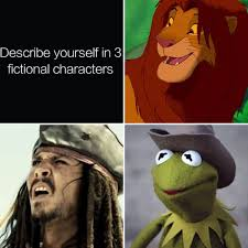 Meme Yourself - describe yourself in 3 fictional characters know your meme