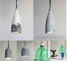Pendant Light Diy Sleek Diy Concrete Pendant L For 10 Do It Yourself Ideas