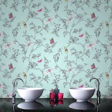 bathroom enticing wallpaper idea for classic with gold bathroom enticing wallpaper idea for classic with gold mirror and round sink admirable retro