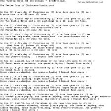christmas christmas songyrics tremendous ukulele chords days of