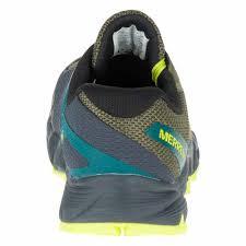 merrell agility charge flex trail running grey men s shoes merrell