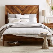 Headboards And Beds Alexa Reclaimed Wood Bed West Elm