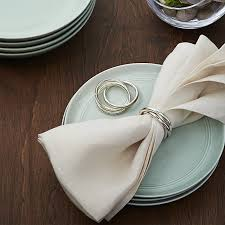 crate and barrel napkins 3 ring napkin ring in napkin rings place card holders reviews