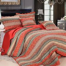 milaiya 3pcs 4pcs bedding sets bohemian style plain quilted