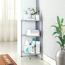 langria 3 tire wire corner storage shelves free standing bathroom