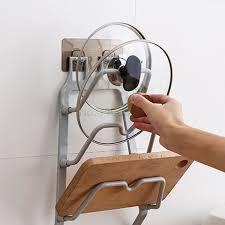 kitchen cabinet door pot and pan lid rack organizer racks holders home garden wall mount pot pan lid storage