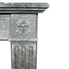 a french 19th century louis xvi st gris st anne marble fireplace