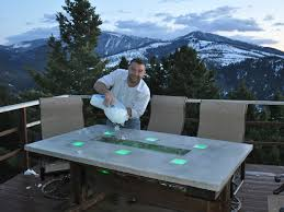 Cooler Patio Table Stunning Led Concrete Patio Table With A Built In Cooler