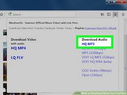 download mp3 from page source 3 ways to download music from youtube wikihow