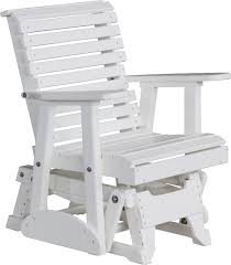 Glider Chair Luxcraft Poly Rollback Plain Style Glider Chair Swingsets Luxcraft