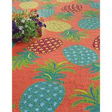 Pineapple Area Rug Companyc Pineapples Coral Indoor Outdoor Area Rug Reviews Wayfair