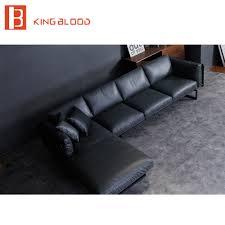 Soft Leather Sofa New Italian Modern Sectional Genuine Nappa Soft Leather Sofa