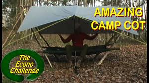 amazing wilderness camp cot simple raised bed bushcraft shelter