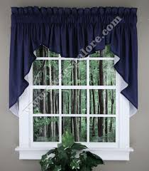 Blue Swag Curtains Emery Lined 3 Swag Set 36 L Midnight Renaissance