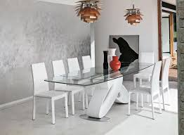 Glass Dining Tables And Chairs Modern Furniture Dining Room - Contemporary glass dining room tables