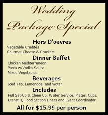 wedding packages prices weddings arizona brown brothers catering