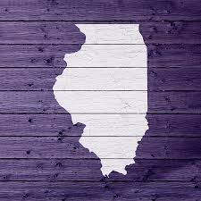 State Map Of Illinois by Map Of Illinois State Outline White Distressed Paint On Reclaimed