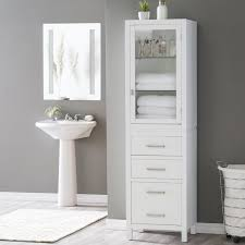Free Standing Wooden Bathroom Furniture Bathroom Cupboards Freestanding Storage Cabinet Wood Linen