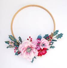 flower wreath paper flower wreaths christmas decor 100 layer cake