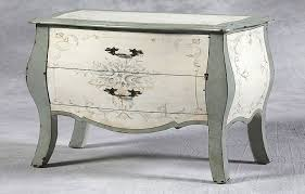 shabby chic cream and grey bombe chest furniture white shabby