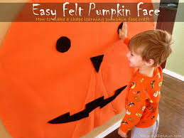 Halloween Crafts For 6th Graders by Simple And Cute Felt Pumpkin Face Craft For Kids