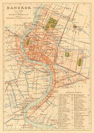 Bangkok Map Map Of Bangkok Thailand 1920 Map Bangkok Thailand Cartes