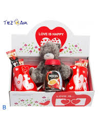 Heart Shaped Mug Heart Shaped Mug Nescafe With Plush Valentine U0027s Day Gift Set