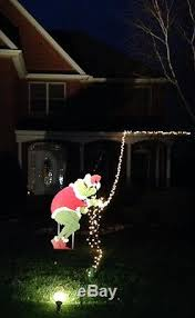 grinch grinch stealing lights yard decoration