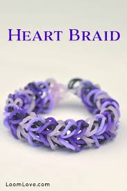 love braid bracelet images How to make a rainbow loom heart braid jpg