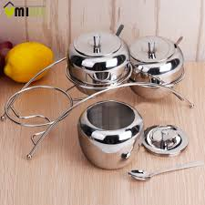 Stainless Steel Kitchen Canister Set Online Get Cheap Stainless Spice Jars Aliexpress Com Alibaba Group