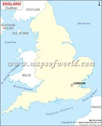 Map England by Blank Map Of England England Outline Map