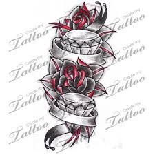 image result for diamond banner tattoo design flower pinterest