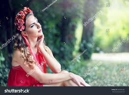 Beautiful Fairies by Beautiful Fairy Filtered Image Brunette Pretty Stock Photo