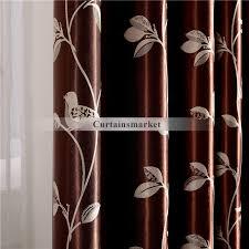Custom Blackout Drapes Birds And Leaf Pattern Custom Blackout Curtains