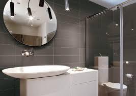 bathroom interior decoration ideas modern grey ceramic tile wall