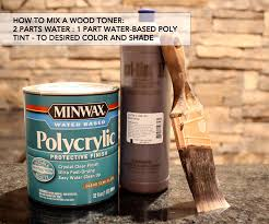 Wood Stain Medium Stain Water Based by Finishing Tutorial How To Use Glaze And Wood Toner