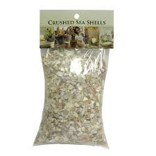 akasha accents home decor accents crushed shell large mix