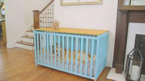 Dog Crate With Bathroom by Turn A Crib Into A Dog Crate Video Diy